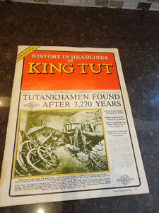 Reproduction of a Vintage History In Headlines of King Tut Book Kitchener / Waterloo Kitchener Area image 1
