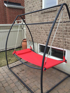 RED SWING HAMMOCK with STAND