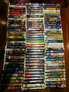 103 Disney and other VHS cassettes