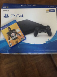 PS4 SLIM 500GB+Madden 19 - Used for 2 wks - Perfect Condition