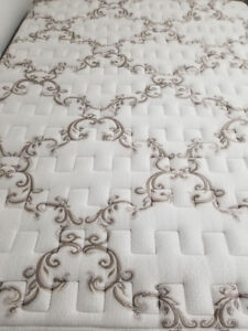 Reduced price Queen size mattress and box spring with ails