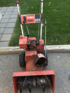 Toro snow blower two-stage