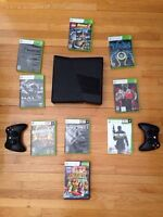 Xbox360 500GB+2 wireless controllers+11 games
