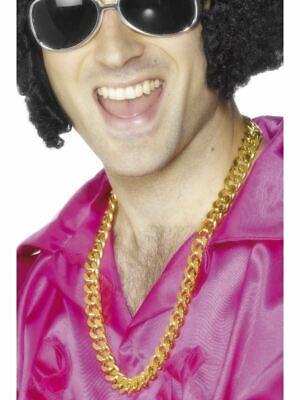 Bling Cuello Cadena Gánster Disco Hip Hop Rapero Falso Disfraz Adulto Accesorio