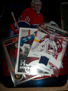 250 cartes GARDIENs BUT avec Tin box Hockey + Game Jersey +++