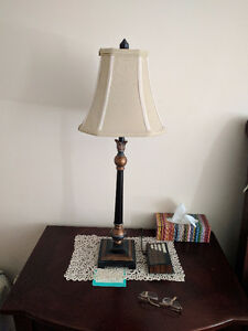 2 Night table lamps from Bombay, Modern Vintage, Fabric cover