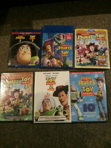 Blu ray et dvd toys story