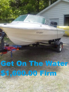 Partially Restored 80 HP Mercury Thunder-Craft & Trailer $1,600
