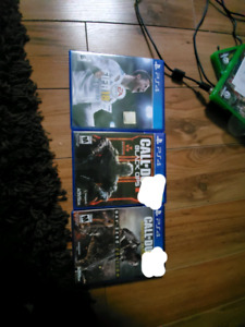 PS4 Games including Call of Duty and FIFA 18