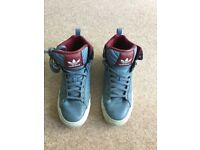 Adidas Blue & Maroon Hi-tops size UK8