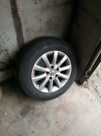 Golf Jetta Leon spare alloy wheel with tyre like new