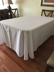 WHITE TABLECLOTHS - LARGE