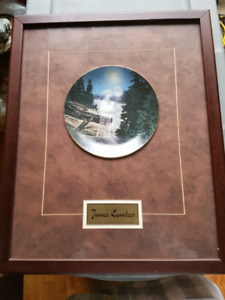Framed James Lumbers collectible plate