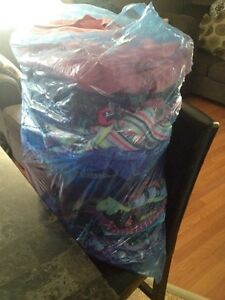 Large bag of girls clothes and under armour sneakers