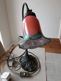 Hand made shade on pewter light fitting