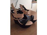 River island wedges size 7 - never been worn