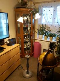 Floral standard lamp