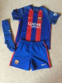 Football Strip Age 5-6 with boots and shin pads
