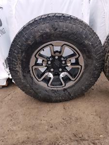Brand new 2017 ram rebel rims and tires