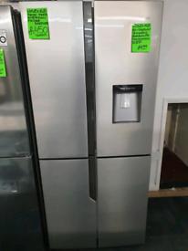 Silver hisense american fridge freezer