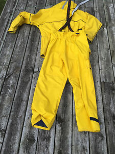 Wetskin Boaters Rainsuit Yellow Mens London Ontario image 3