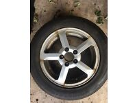 Volvo V70 alloys and tyres 195/60/15 Bridgestone 5x108PCD