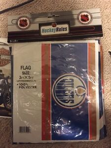 Oilers flag 3FT x 5FT. UNOPENED