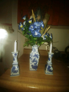Vase and candle holders