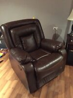 Italian Leather Recliner, Couch & Love Seat