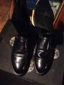 Mens Justin's Ropers Black Size 10.5 EE Cowboy boots