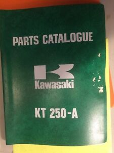 1975 1976 Kawasaki KT250-A KT250-A2 Parts Catalogue