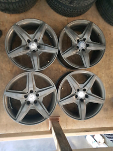 Mercedes Benz 18 inch winter tires and rims
