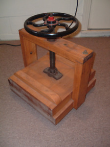C. 1930s VINTAGE Wooden Book Press. Gorgeous and All-Authentic!!