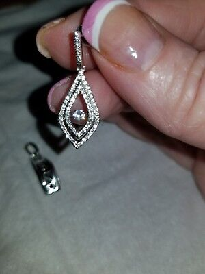 - Twinkle, Beating Heart,  Earring and Pendant, Sterling Silver and CZ Set