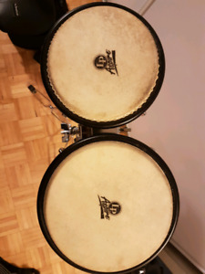 Lp Aspire bongos with case and stand