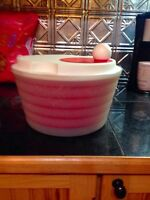 Tupperware salad spinner. Brand new curling wand. Microwave