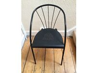 Black metal frame chair