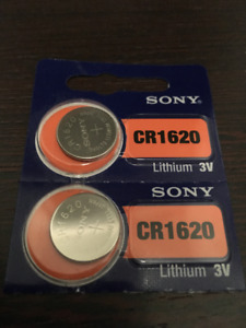 Sony CR1620 Lithium 3V batteries - brand new in package