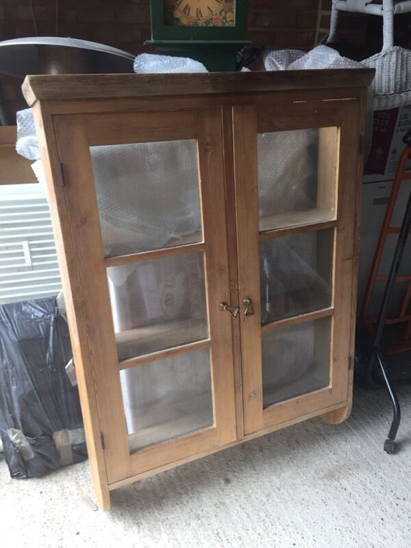 Old Waxed Antique Pine Wall Cupboard - Old Waxed Antique Pine Wall Cupboard In Canterbury, Kent Gumtree