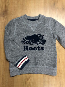 Boys Roots Sweatshirt 5T - Excellent Condition