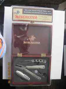 Winchester 4 Piece Tool Kit in Wooden Display Box SEALED UNUSED