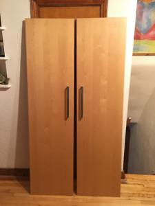 2 Portes pour Armoire PAX de IKEA, 100 x 205 cm, bouleau