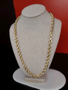 """10k gold rope chain 26"""""""