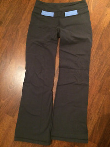 Grey Lululemon reversible groove pants (Size 8)