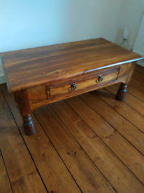 Coffee table - solid wood - reduced