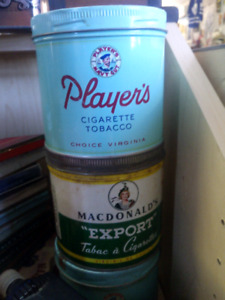Old Collectible Tabacco Tins