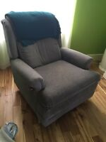 Grey Blue recliner