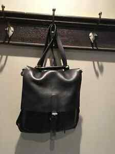 Roots Black Box Leather Purse/Backpack