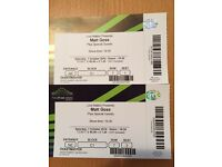 2 Matt Goss tickets for Saturday 1st October