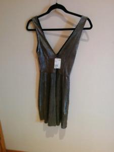 H&M metallic dress